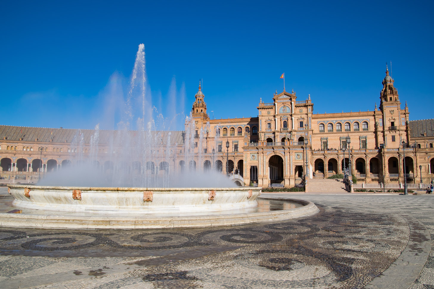 Plaza de España met fontein